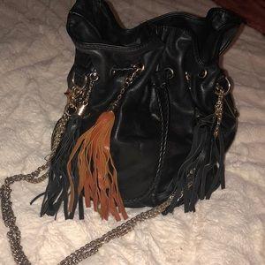 Handbags - Black purse with fringe tassels